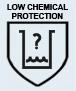 EN 374-1/2/3 Protección ligera contra productos químicos